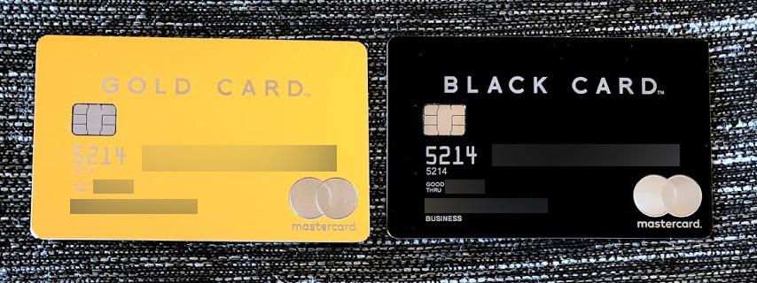 ラグジュアリーカード ゴールドとラグジュアリーカード ブラック(ビジネスカード)