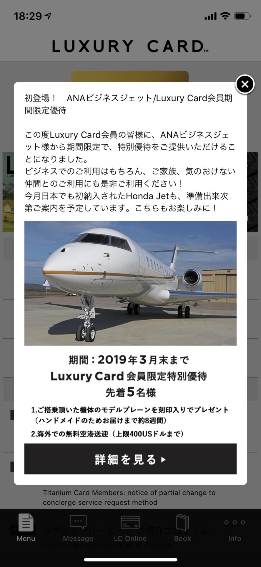 ANAビジネスジェット優待 (1)
