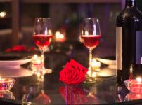 ラグジュアリーなディナー(レストランでのワイン)